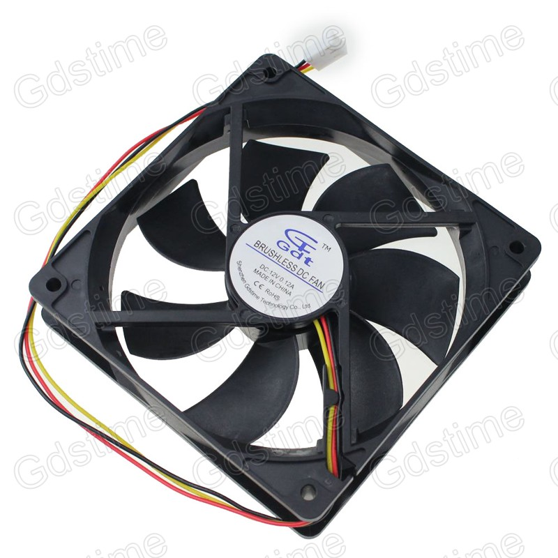 100pieces Lot 3Pin 120mm x 120mm x 25MM 12V DC Plastic Brushless Computer CPU Cooling Fan Factory Wholesale(China (Mainland))