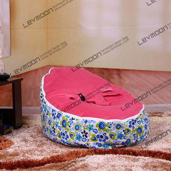 FREE SHIPPING baby bean bag with 2pcs red up cover bean bag seat bean bag no filler baby bean bags kids chairs and sofas(China (Mainland))