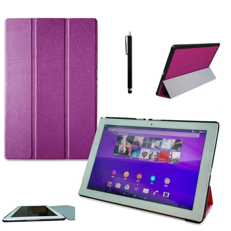 Classic Ultra Slim Lightweight Folio Cover PU Leather Smart Shell Stand Case for <font><b>Sony</b></font> <font><b>Xperia</b></font> <font><b>Z4</b></font> <font><b>Tablet</b></font> Ultra 10.1'' <font><b>Tablet</b></font> <font><b>LTE</b></font>