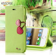 Buy KISSCASE iPhone 5C 5 5S SE Case PU Leather Wallet Flip Case Apple iPhone 5C 5 Card Slot Cherry Magnetic Buckle Capa for $3.99 in AliExpress store