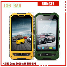 Original A8 IP68 Waterproof Shockproof Phone MTK6582 Quad Core Android4.4 1GB RAM 8GB ROM GPS 3000mAh mobile phone V8(China (Mainland))