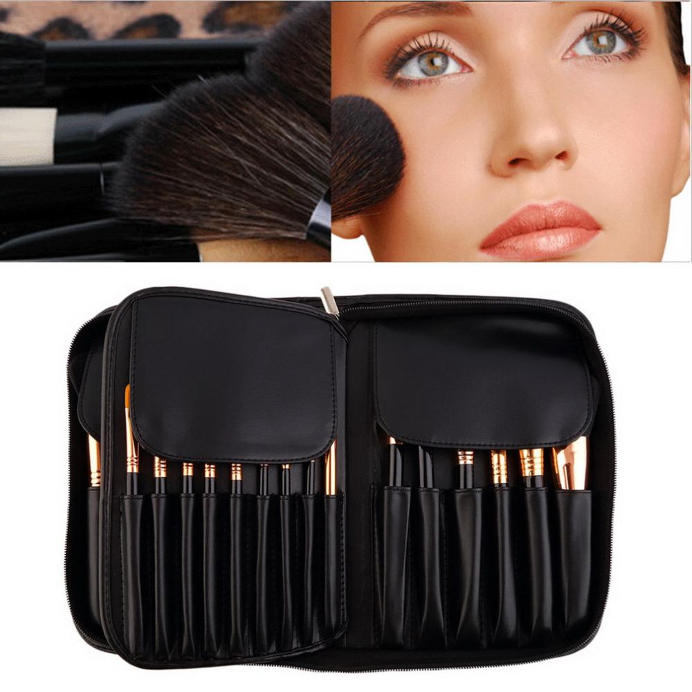 Professional 29 Pcs High Quality Goat Hair Cosmetics Makeup Brush Set+ Case Wholesale<br><br>Aliexpress