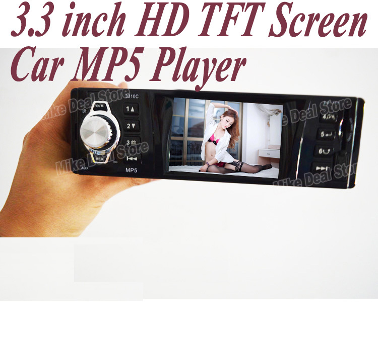 3.3' ' TFT HD Screen Car MP4 MP5 Radio Stereo FM Radio/Charger/MP3/Audio/Video/Electronics/Subwoofer/1 DIN ZQC51 Free Shipping(China (Mainland))