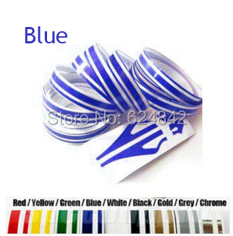 New 12*9800mm Brand New DIY Stripe & Lines Tape Car Stickers Decals decoration strip black/grey/white/red/yellow Pin Stripe Line(China (Mainland))