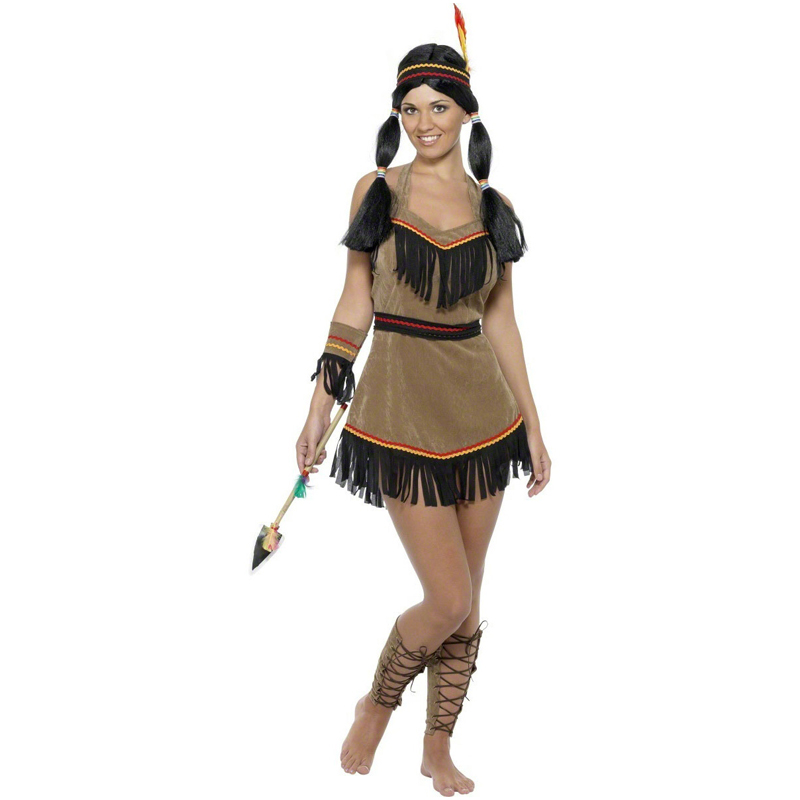 Indian Princess Women Costume Adult Carnival Fancy Dress Halloween Cosplay Outfit(China (Mainland))