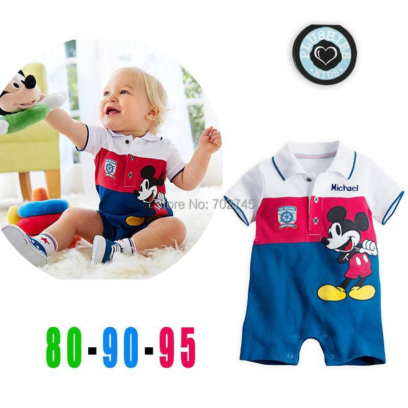 2015 Summer New Baby Romper Cartoon Cotton Short Sleeve One Piece Jumpsuit 6-24M 12475