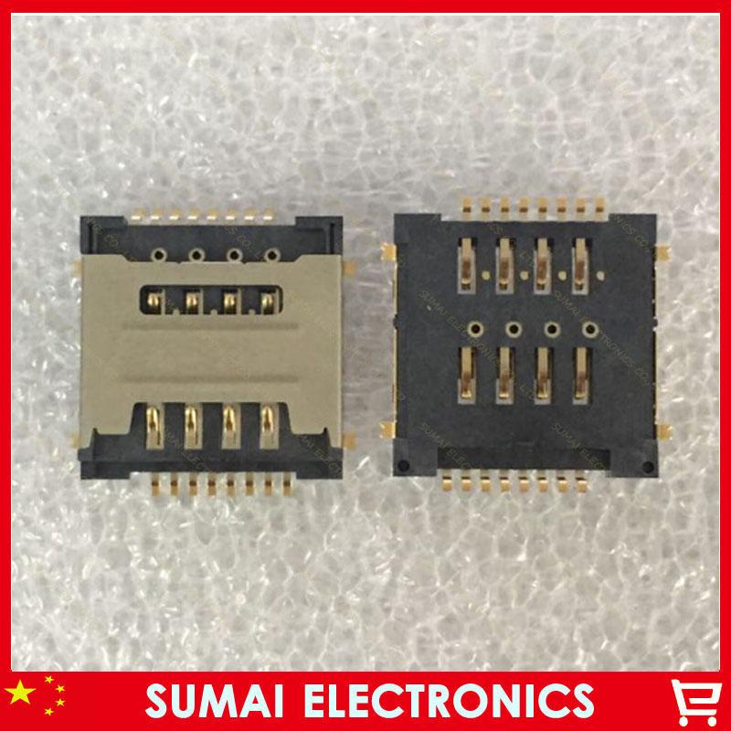 100pcs/lot Double SIM cards slot for lenovo A780t A520 A580 A560e A505e A2105 Free shipping
