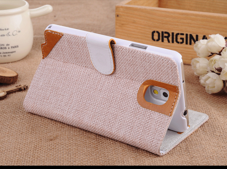 note3 upscale linen natural protective shell Mobile phone case holster - Shenzhen Aitop Co., LTD store