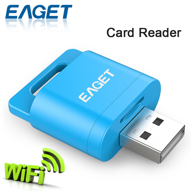 EAGET A50 Portable USB Smart Wifi Wirless Card Reader Adapter for Micro SD SDHC TF Flash Wireless Storage for iOS Android Device(China (Mainland))