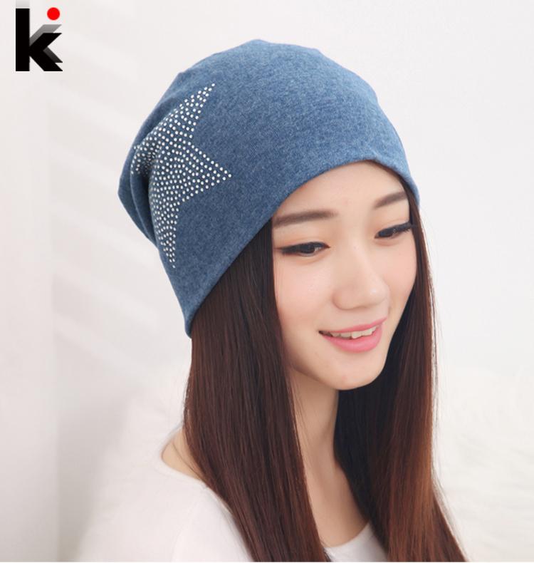 2015 Free shipping autumn and winter beanies diamond turban Pentacle cap skullies hip-hop hat for women men bonnet 6 colors(China (Mainland))