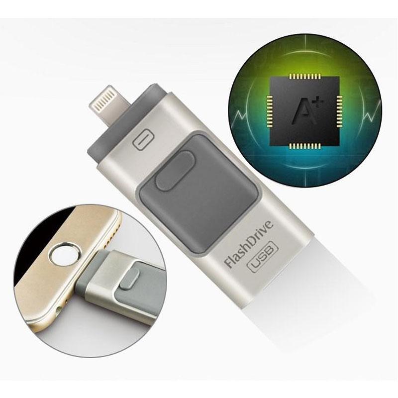 3in1 Mini Usb Metal Pen Drive /Otg Usb Flash Drive For iPhone 5/5s/5c/6/6 Plus/ipad i-Flashdrive 8gb 16gb 32gb 64gb(China (Mainland))