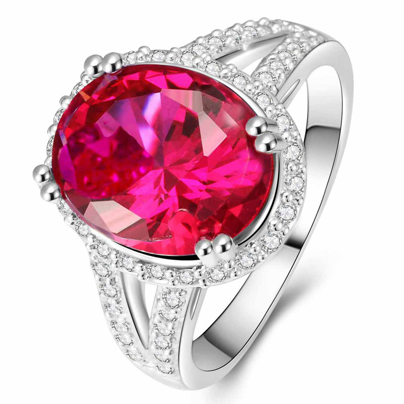 YaYI Fashion Women's Jewelry Ring CZ Diamond Ruby White Platinum Plated Engagement Rings wedding Rings Party Rings gift(China (Mainland))