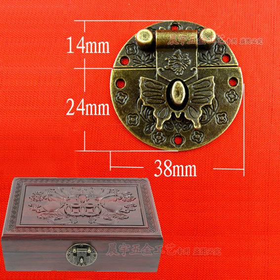 Гаджет  Antique Wine box Jewelry box hardware Latch Box lock Buckles wooden box Hasp lock 10pcs/lot 38*38mm Wholesale Free shipping None Мебель