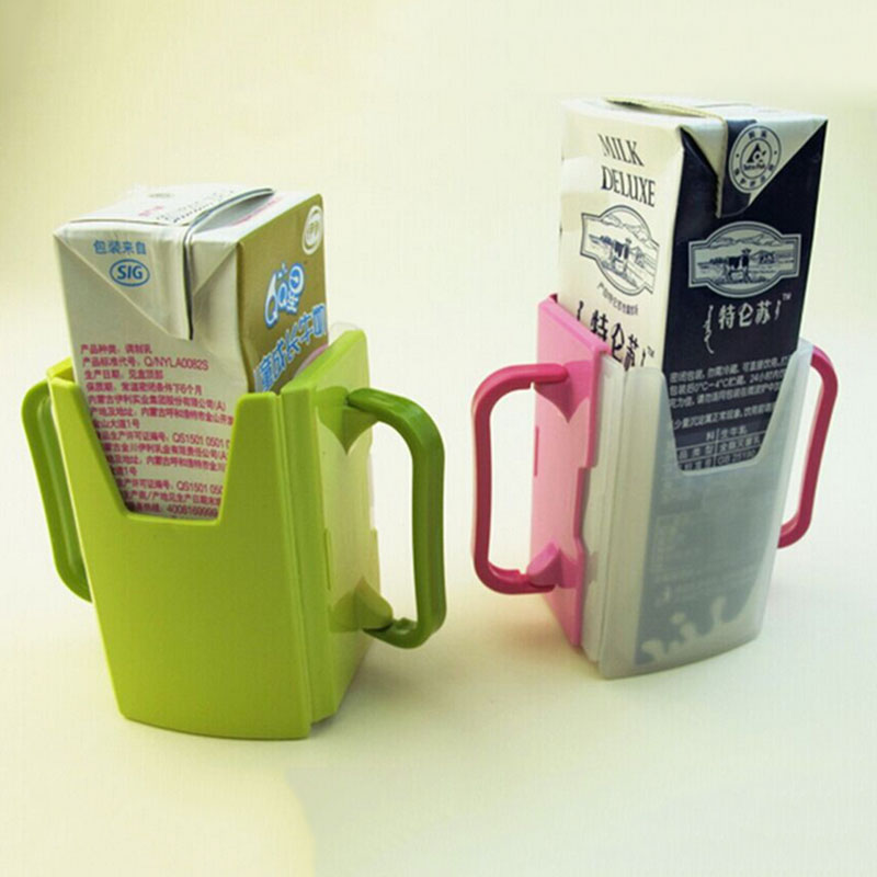 New Sale Function Adjustable Safe Toddler Kid Juice Milk Box Drinking Bottle Cup Holder Mug High Quality Free SHipping(China (Mainland))