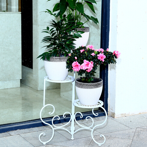 ECDAILY  special garden iron wrought iron wood multilayer indoor balcony living room wooden flower pots frame   FREE SHIPPING<br><br>Aliexpress