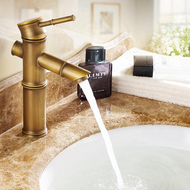 Retro Kitchen Taps: Kitchen Sink Faucet Waterfall Brass Retro Mixer Taps