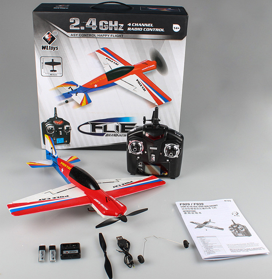 WLtoys F939 R/C remote airplane toy model 4CH Remote Control Glider 2014 New RC Airplane toy RTF 2.4Ghz(China (Mainland))