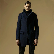2015 New Arrival Brand Winter Overcoat Hooded Wool Blends Long Jacket Men sobretudo masculino Big Size M -3XL Coat A3003(China (Mainland))