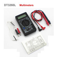 DT-838 Mini 3 1/2 LCD Digital Multimeter DMM Voltmeter Ammeter Ohmmeter hFE Tester with Temperature Diode Continuity Test SGG