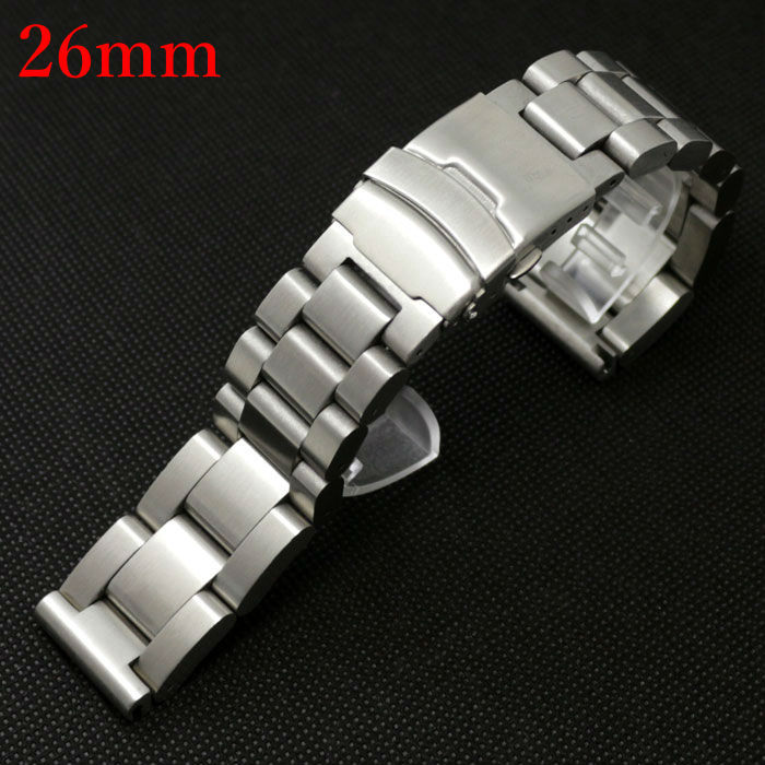 Strap for Hours Watch Band 26mm Stainless Steel with Folding Claps with Safty GD013426<br><br>Aliexpress