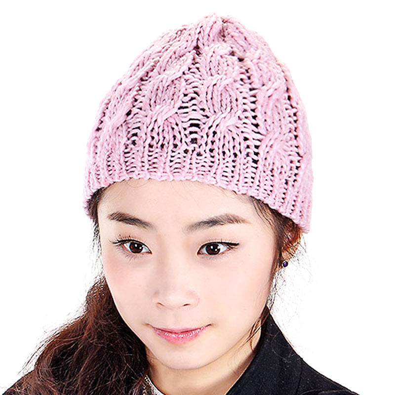 Hot Sale 2015 fahsion Women Knit Winter Warm Crochet Hat Braided Baggy Beret Beanie Cap free shipping(China (Mainland))