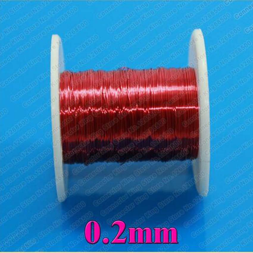 100m/pc Red Magnet Wire 0.2mm Enameled Copper wire Magnetic Coil Winding 0.2 mm(China (Mainland))