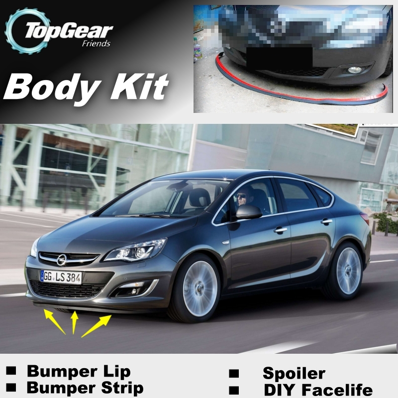 Bumper Lip Deflector Lips For Vauxhall Astra Front Spoiler Skirt For TopGear Friends to Car View Tuning / Body Kit / Strip<br><br>Aliexpress