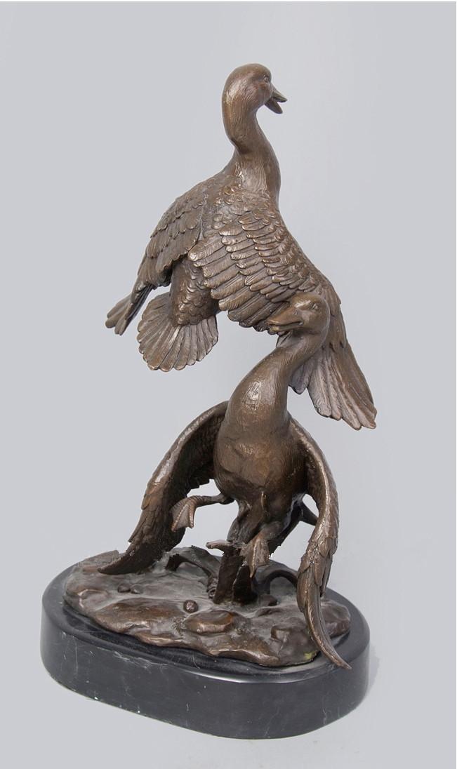 Garden Decor Mandarin Duck Metal Craft Statues Upscale
