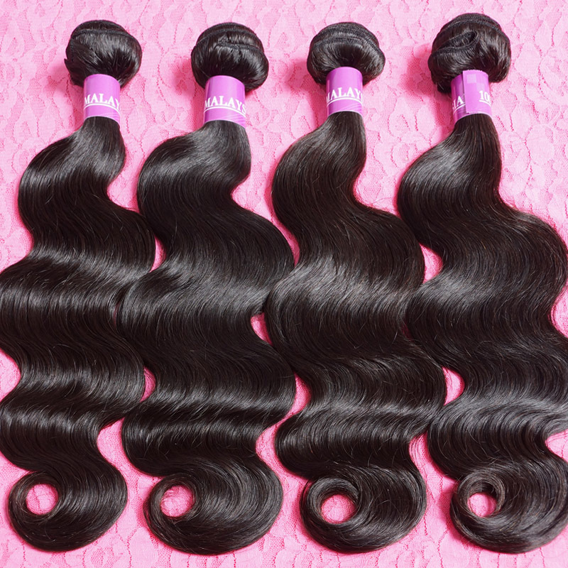 Malaysian virgin hair body wave 4pcs lot remy human hair weft 100% 7a unprocessed virgin malaysian hair,free shipping(China (Mainland))