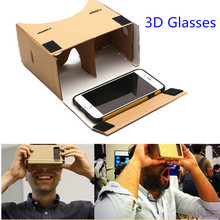 Google Cardboard 3d Glasses Virtual Reality Glasses Vr Box DIY Google Vr Cardboard 3d Glass For Iphone Huawei 6 Sony Xperia Z(China (Mainland))