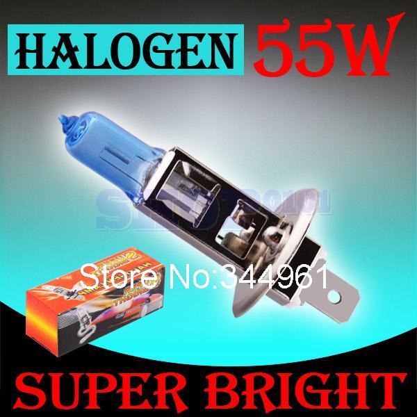 H1 55W 12V Super Bright White Fog Lights Halogen Bulb High Power Car Headlight Lamp Car Light Source parking 6000K auto(China (Mainland))