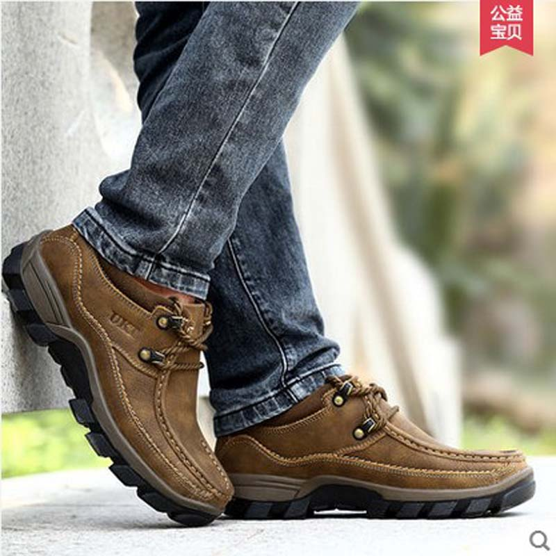 UKT qijiandian 2016 Autumn and winter  male shoes outdoor  cowhide genuine leather first layer  casual shoes