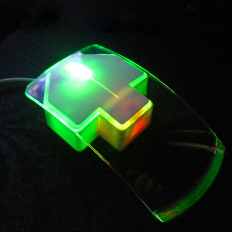 Creative Personality Mouse Cable Colorful Transparent And Silent Arrow Mouse,USB Mouse Desktop Computers,Notebook,Free Shipping