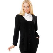 BFDADI Майка женская 2016 свободного покроя весной новое поступление женский воротник рубашки модная широкая Большой размер с длинным рукавом туника футболка топы 0996(China (Mainland))