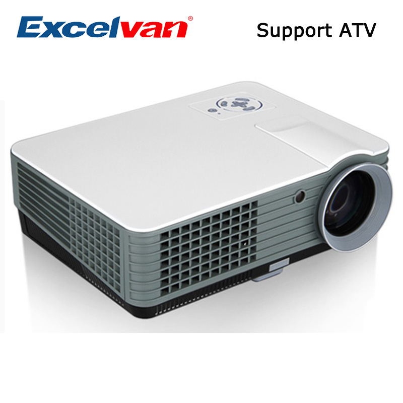 Excelvan RD-801 Multimedia Projector 2000 Lumens Home Theater LCD Projector With HDMI/USB/AV/VGA/ATV Input LCD&LED Proyector(China (Mainland))