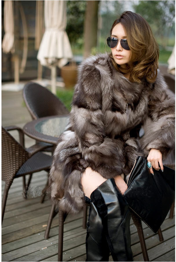 New silver fox fur coats women long luxury fashion fox fur coats in the winter the real fox fur jacket fur coatОдежда и ак�е��уары<br><br><br>Aliexpress