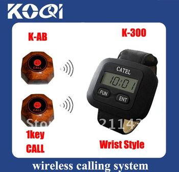 DHL Freeshipping Wireless calling system of  8 Call bells and 1 watch receiver ; wireless and easy installation