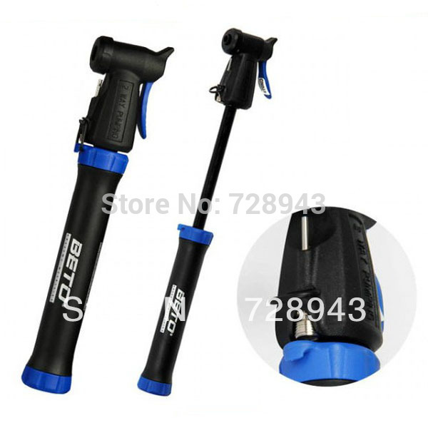 Super New Sale! Mini Portable Cycling Bike Bicycle Tire Tyre Inflator Air Hand Pump with Bracket Free shipping(China (Mainland))