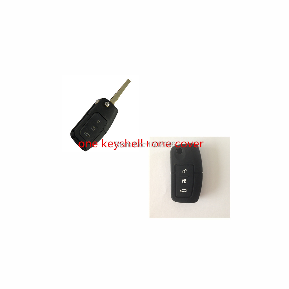 1 key shell Cover Uncut Fob Remote Key Shell for FORD Focus Fiesta C Max S