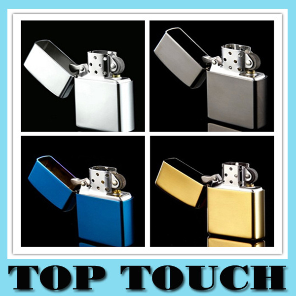 Hot Classic Men Smooth Polished Mirror Metal Lighter Oil Cigarette Lighter Smoking Cool Smoking Cigar Flint