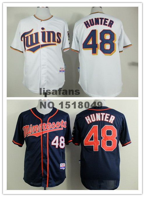 New! #48 Torii Hunter Men's Minnesota Twins Authentic onfield Cool Base Baseball wholesale Jerseys Free Shipping(China (Mainland))
