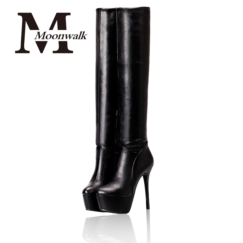 Sexy Boots Over The Knee Boots High Heel 2015 Autumn Winter Fashion New Black Platform Heels Boot For Women Leather Shoes S661<br><br>Aliexpress