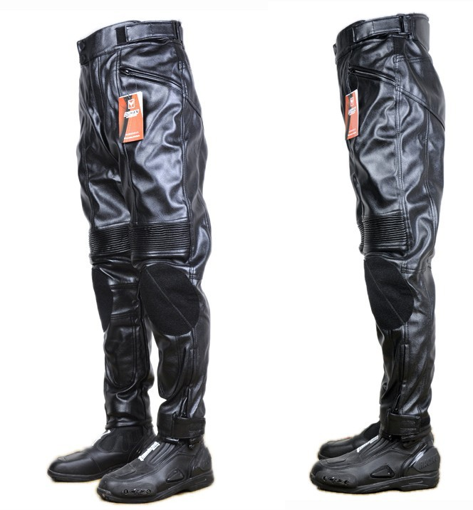 motorcycle PU leather pant racing pants /cycling trousers / Racing - off-road professional suit waterproof Ride all over the world store