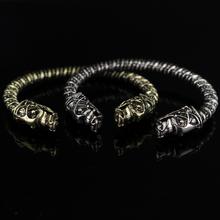 Buy 2 Colour Wolf Head Male Bracelet Indian Jewelry Vintage Accessories Bracelet Men Wristband Cuff Bracelets for $1.30 in AliExpress store