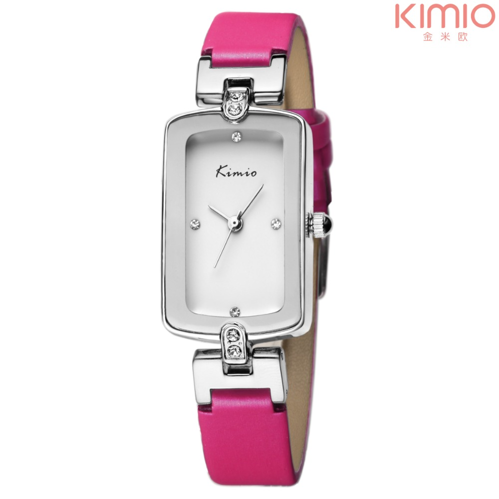 Brand KIMIO Promotion Price White Watches For Women Fake Diamond Top Watch Brands For Women Dress Business Woman Wristwatch