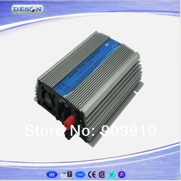 High performance mirco grid connected inverter , 10.8-28Vdc to 110V or 230VAC 300W single phase type solar grid connect inverter(China (Mainland))