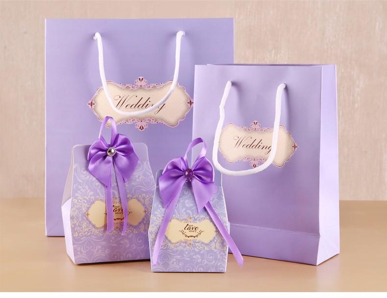 10PCS 2 Colors Option Wedding Paper Card Gift Bag for Packing Wedding Favours and wedding favors and gifts(China (Mainland))
