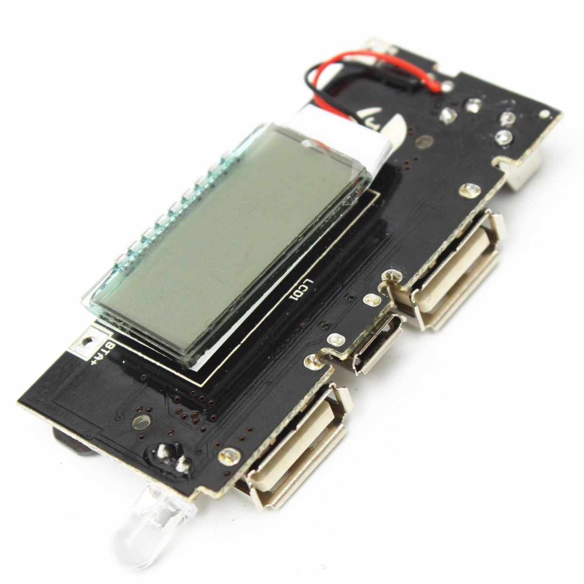 Dual USB 5V 1A 2.1A Mobile Power Bank 18650 Battery Charger PCB Power Module Accessories For Phone DIY New LED LCD Module Board(China (Mainland))
