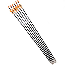 Hot 6pcs lot Fiberglass Arrow with Orange Plastic Feather for Recurve Bow Long Bow Arrow Hunting