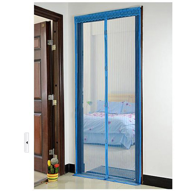 Best seller sky blue magnetic mesh anti mosquito bug door for Screen new window
